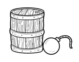<span class='hidden-xs'>Coloriage de </span>Gunpowder et pirate bombe à colorier