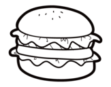 <span class='hidden-xs'>Coloriage de </span>Hamburger avec salade à colorier