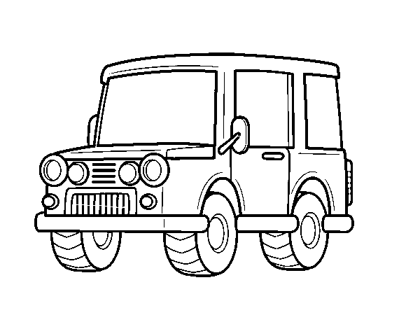 Coloriage De Jeep Tout Terrain Pour Colorier Coloritoucom