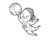 <span class='hidden-xs'>Coloriage de </span>Joueur de volley-ball à colorier