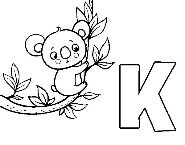 Coloriage De K De Koala Pour Colorier Coloritou Com