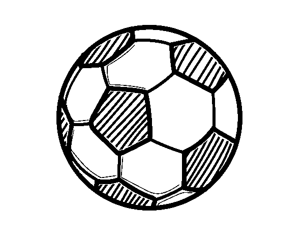 Coloriage de Le ballon de football pour Colorier