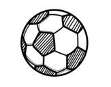 <span class='hidden-xs'>Coloriage de </span>Le ballon de football à colorier