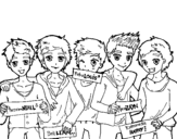 <span class='hidden-xs'>Coloriage de </span>Les garçons de One Direction à colorier