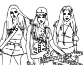<span class='hidden-xs'>Coloriage de </span>Les Sweet California à colorier