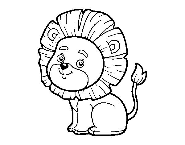 coloriage de lion jeune pour colorier