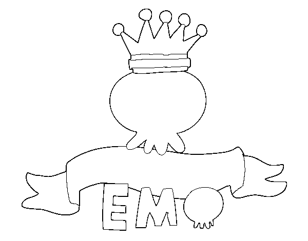 Coloriage de Love Emo pour Colorier