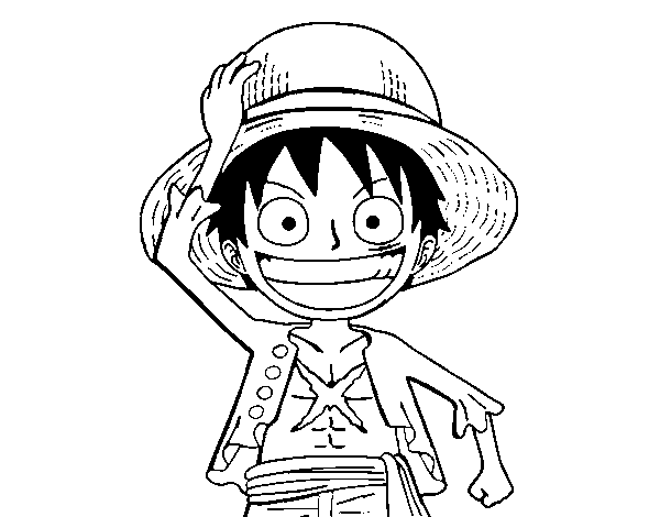Coloriage de Luffy pour Colorier