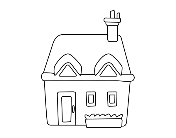 Coloriage De Maison Avec Cheminee Pour Colorier Coloritou Com