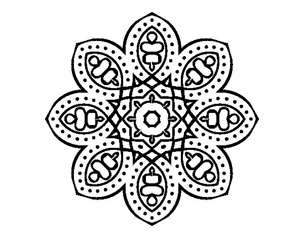 Coloriage De Mandala Arabe Pour Colorier Coloritou Com