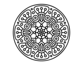 <span class='hidden-xs'>Coloriage de </span>Mandala crop circle à colorier