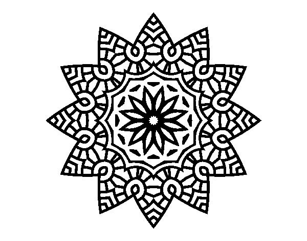 Coloriage De Mandala Etoile Florale Pour Colorier Coloritou Com