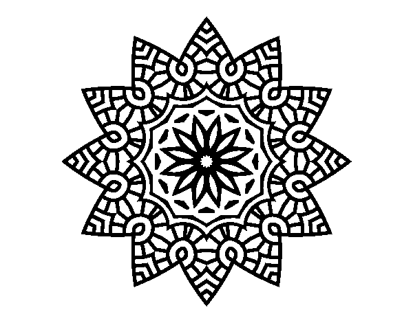 Coloriage De Mandala Etoile.Coloriage De Mandala Etoile Florale Pour Colorier Coloritou Com