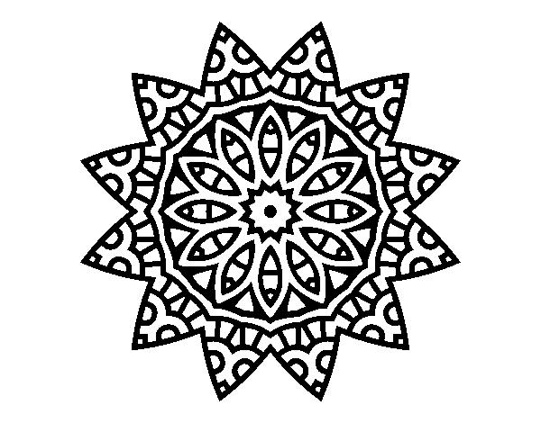 Coloriage De Mandala Etoile.Coloriage De Mandala Etoile Pour Colorier Coloritou Com
