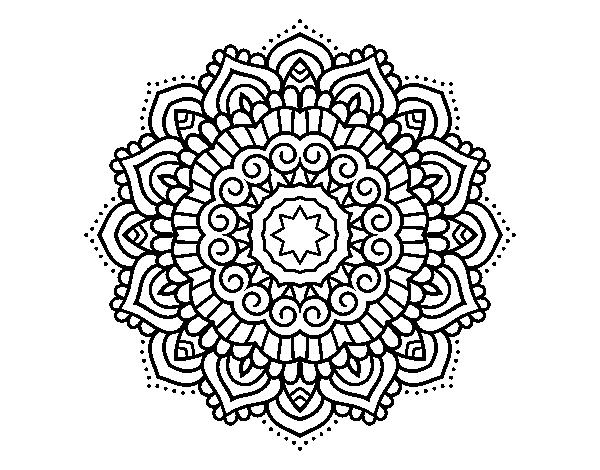 Coloriage Etoile Mandala.Coloriage De Mandala Etoiles Decore Pour Colorier Coloritou Com