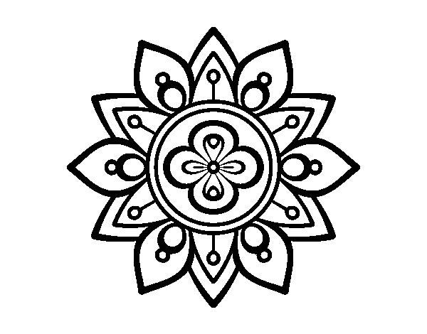 Coloriage de mandala fleur du lotus pour colorier - Coloriage fleur mandala ...