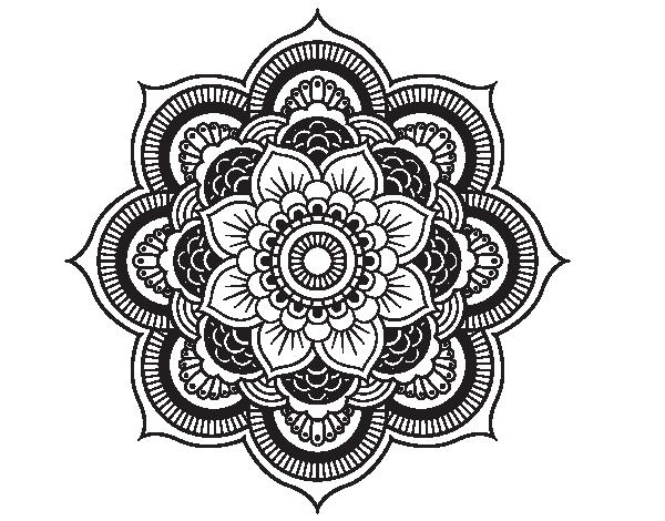 Coloriage De Mandala Fleur Oriental Pour Colorier Coloritoucom