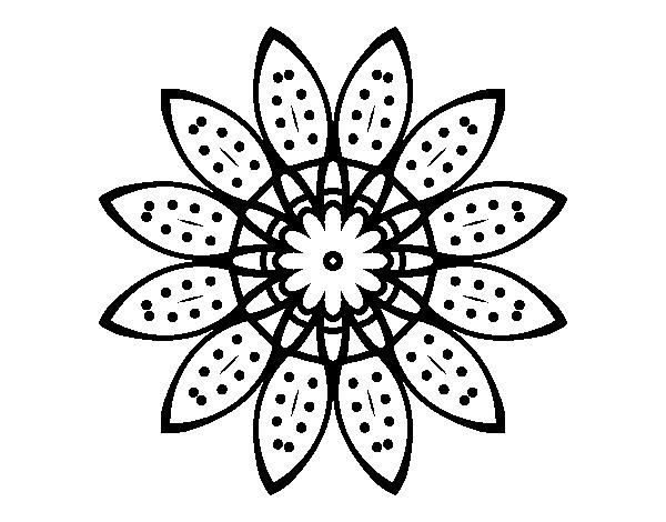 Coloriage de mandala fleurs avec p tales pour colorier - Coloriage fleur 8 petales ...