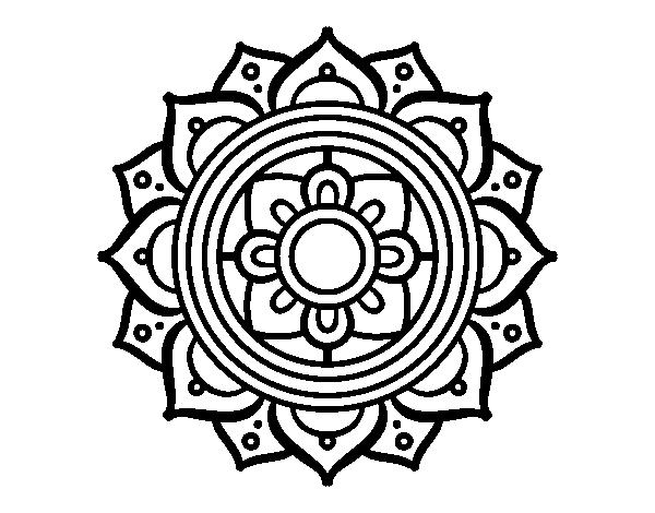 Coloriage De Mandala Mosaique Grecque Pour Colorier Coloritou Com