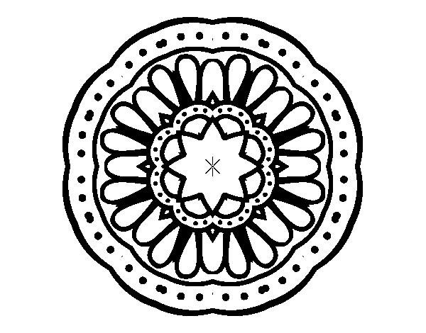 Coloriage De Mandala Mosaique Pour Colorier Coloritou Com