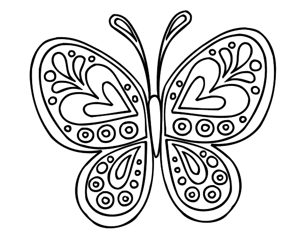 Coloriage De Mandala Papillon Pour Colorier Coloritou Com
