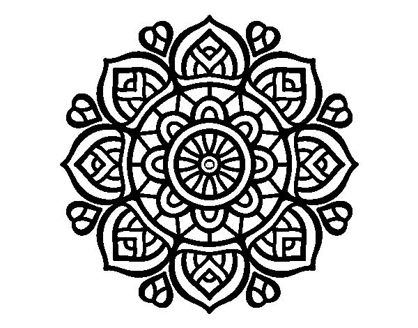 Coloriage De Mandala Pour La Concentration Mental Pour