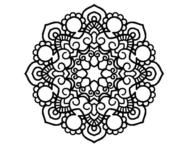 Coloriage De Mandala Réunion Pour Colorier Coloritoucom