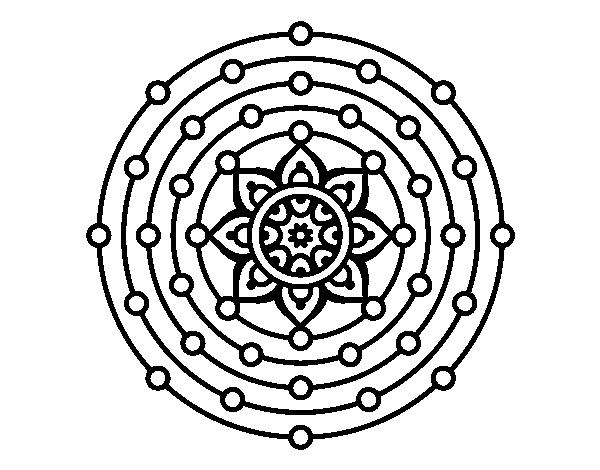 Coloriage De Mandala Système Solaire Pour Colorier Coloritoucom
