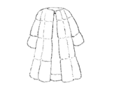 <span class='hidden-xs'>Coloriage de </span>Manteau de fourrure à colorier