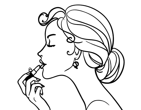 Coloriage De Maquillage Depu Vi