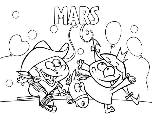 Coloriage De Mois De Mars Pour Colorier Coloritoucom