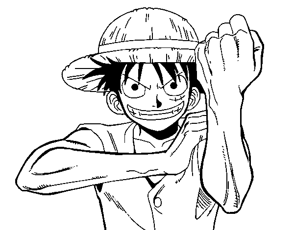 Coloriage de Monkey D. Luffy pour Colorier