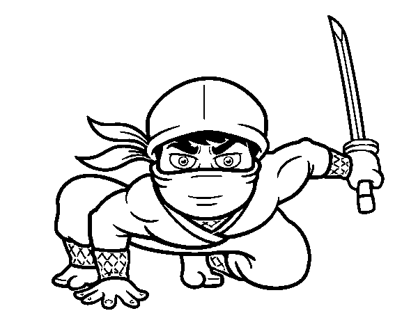 Coloriage de ninja japonais pour colorier - Coloriage de ninja ...