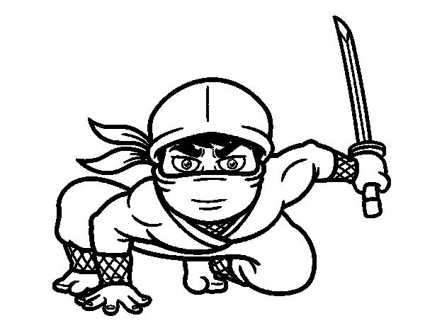 Coloriage De Ninja Japonais Pour Colorier Coloritou Com