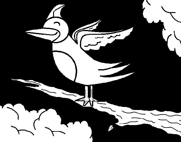 Coloriage Oiseau Sur Arbre.Coloriage De Oiseau Dans Un Arbre Pour Colorier Coloritou Com
