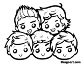 <span class='hidden-xs'>Coloriage de </span>One Direction 2 à colorier