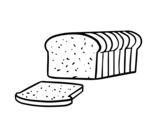 <span class='hidden-xs'>Coloriage de </span>Pain de mie à colorier