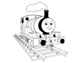 <span class='hidden-xs'>Coloriage de </span>Percy la petite locomotive à colorier