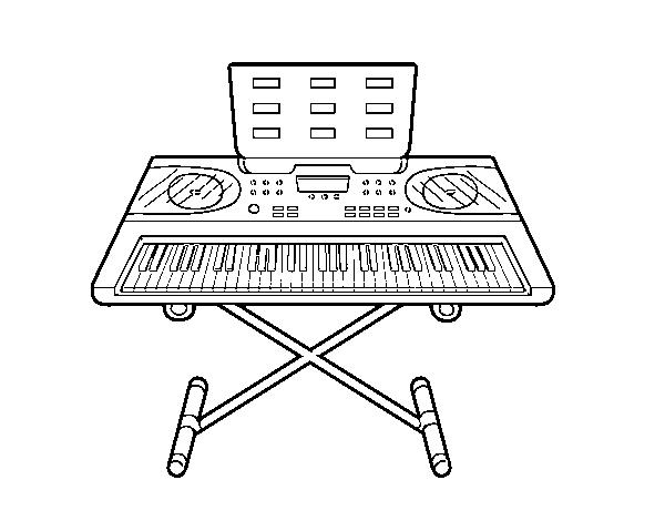 coloriage de piano synth u00e9tiseur pour colorier