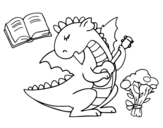 <span class='hidden-xs'>Coloriage de </span>Poète dragon à colorier