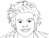 <span class='hidden-xs'>Coloriage de </span>Portrait de Harry Styles à colorier