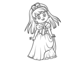<span class='hidden-xs'>Coloriage de </span>Princesse adorable à colorier