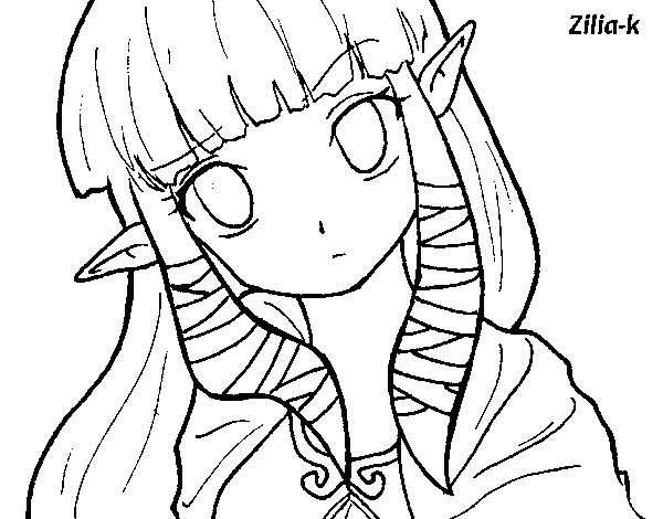 Coloriage De Princesse Zelda Pour Colorier Coloritou Com