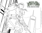 <span class='hidden-xs'>Coloriage de </span>Raphael Ninja Turtles à colorier
