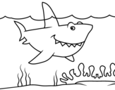 <span class='hidden-xs'>Coloriage de </span>Requin marin à colorier