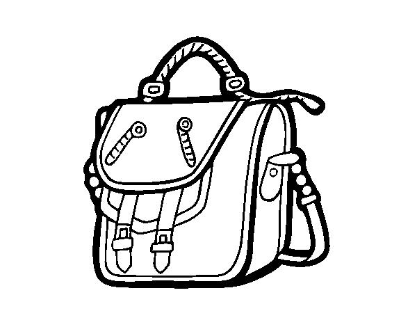Coloriage de sac dos pour colorier - Coloriage sac a dos ...