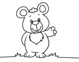 <span class='hidden-xs'>Coloriage de </span>Salutation d'ours à colorier