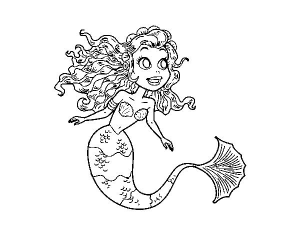 Coloriage De Sirène Manga Pour Colorier Coloritou Com