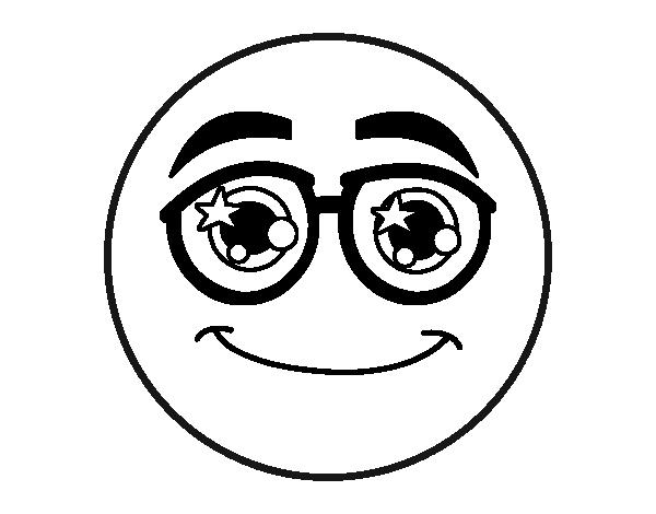 Coloriage De Smiley Avec Des Lunettes Pour Colorier