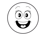 <span class='hidden-xs'>Coloriage de </span>Smiley à colorier